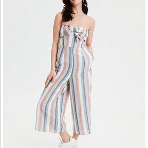 AE Striped Front-tie Jumpsuit
